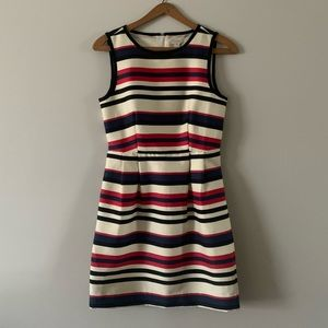 J CREW Nautical Striped Sheath Dress